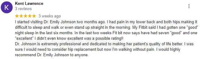 Chiropractic Chesterfield MO Patient Testimonial